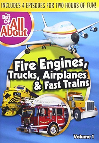 All About Best Of Volume 1 Fire Engines Trucks Airplanes & Fast Trains DVD Nr