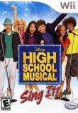 Wii High School Musical Sing It E
