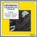 Walter Gieseking Retrospective Vol. 3 Gieseking (pno)