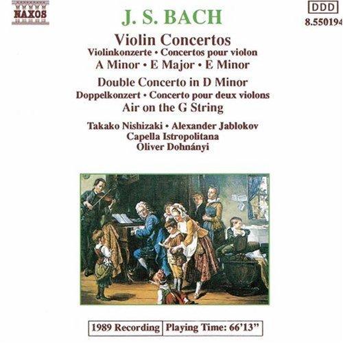Johann Sebastian Bach/Con Vn 1/2/Con 2 Vn@Nishizaki/Jablokov (Vns)@Dohnanyi/Capella Istropolitana