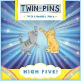 Twin Pins High Five Two Enamel Pins