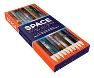 Chronicle Books Space Swirl Colored Pencils 10 Two Tone Pencils Featuring Photos From Nasa