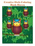 Individuality Books Creative Owls Coloring Book Haven