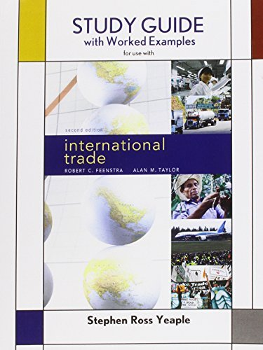 Robert C. Taylor Feenstra Study Guide For International Trade