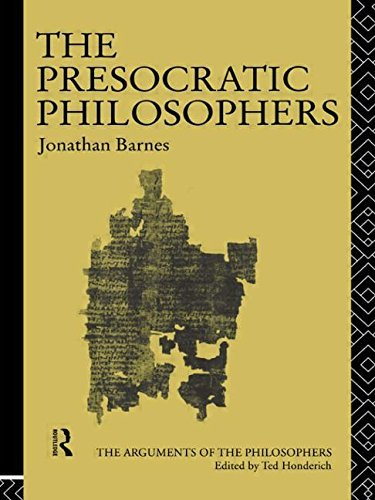 Jonathan Barnes The Presocratic Philosophers Revised