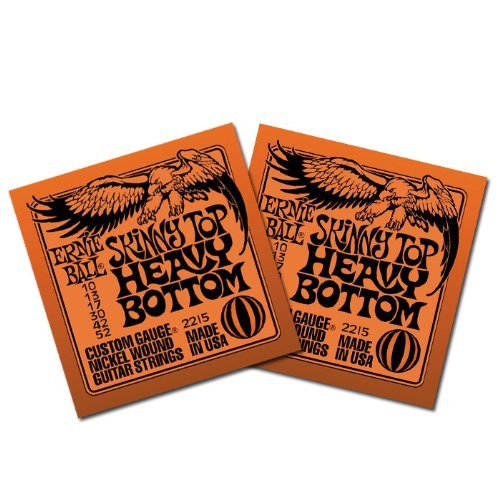 Ernie Ball Guitar Strings Skinny Top Heavy Bottom Gauges 10 13 17 30 42 52