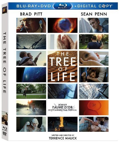 The Tree Of Life Pitt Penn Chastain Blu Ray DVD Dc Pg13