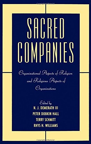 N. J. Demerath Sacred Companies Organizational Aspects Of Religion And Religious