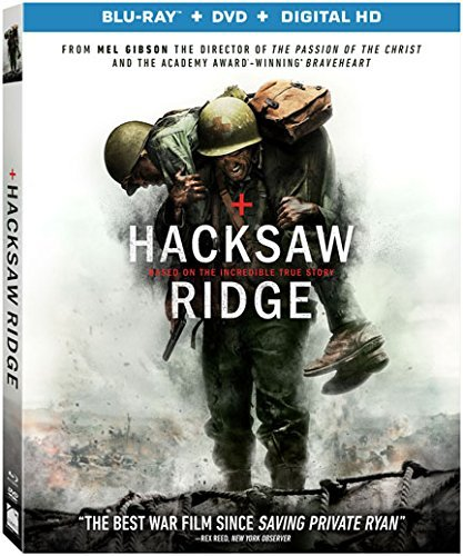 Hacksaw Ridge Garfield Worthington Blu Ray DVD Dc R
