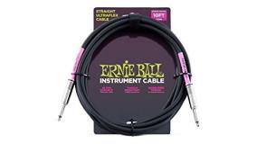 Ernie Ball Guitar Cable Black 10ft