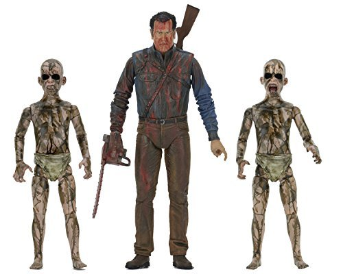 "Action Figure Bloody Ash Vs Demon Spawn (ash Vs Evil Dead) 7"" 3 Pack"