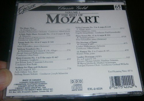 W.A. Mozart Vol. 1 Best Of Mozart
