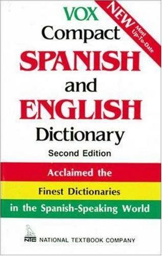 National Textbook Company Vox Compact Spanish And English Dictionary