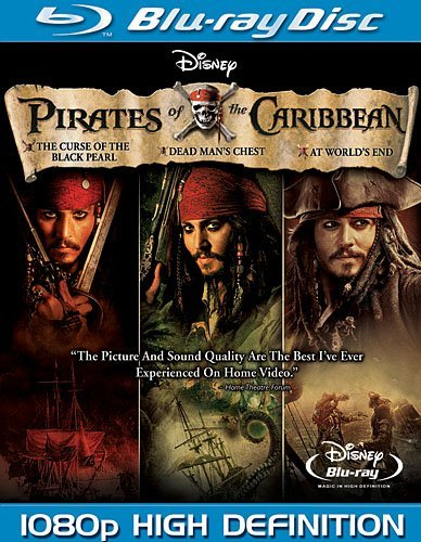 Pirates Of The Caribbean Trilogy Depp Bloom Knighlty Pg13 3 DVD