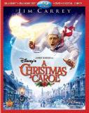Disney's A Christmas Carol (20 Carrey Hoskins Elwes Ws Blu Ray 2d 3dtv Pg 4 DVD Incl. Digital Copy
