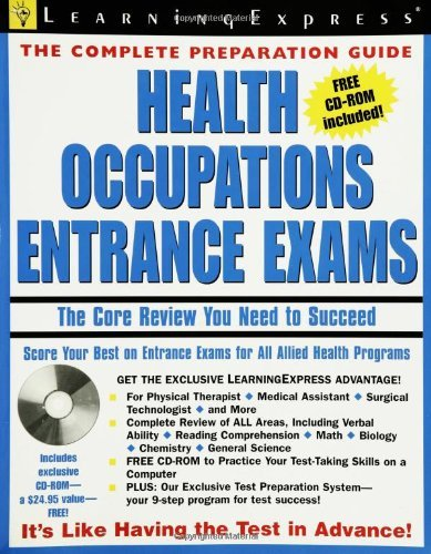 Learning Express Llc Health Occupations Entrance Exam The Core Review You Need To Succeed [with Cdrom]