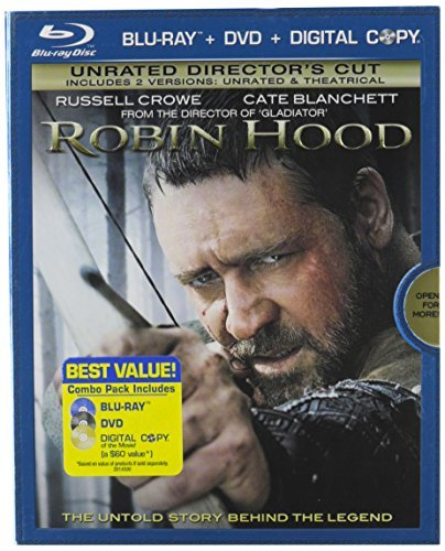 Robin Hood (2010) Crowe Russell Ws Blu Ray Pg13 2 Br Incl. DVD Dc