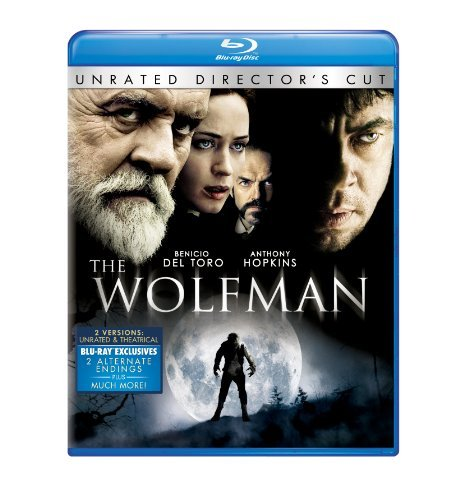 Wolfman (2010) Del Toro Hopkins Blunt Weaving Blu Ray Ws Ur R