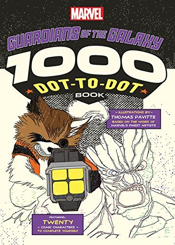 Thomas Pavitte Marvel Guardians Of The Galaxy 1000 Dot To Dot Book