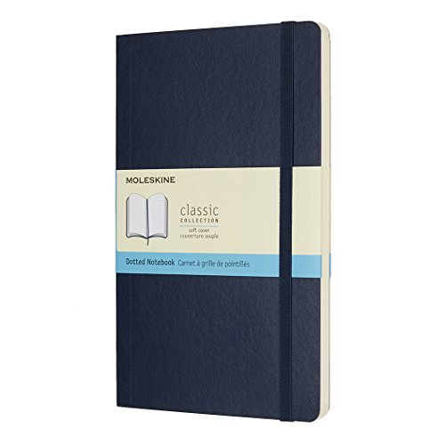 Moleskine Large Notebook Dotted Sapphire Blue Soft Cover