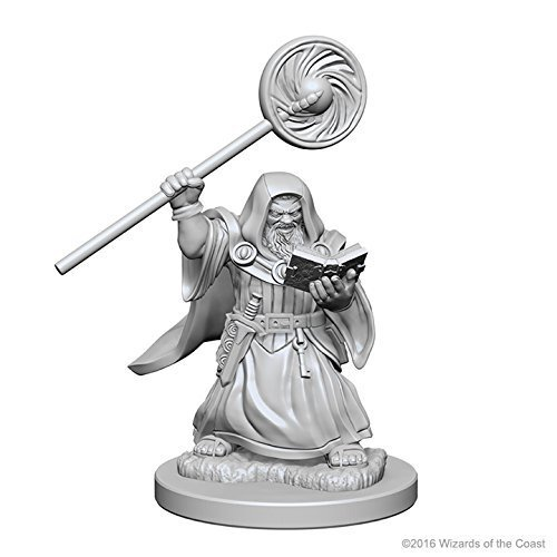 Miniature D&d Dwarf Male Wizard