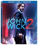 John Wick Chapter 2 Reeves Scamarcio Mcshane Rose Common Fishburne Blu Ray DVD Dc R