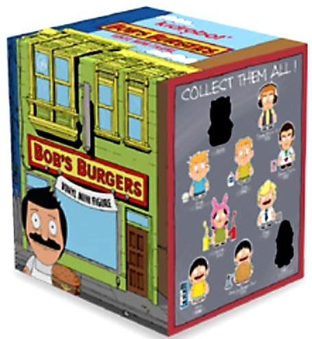 Kidrobot Bob's Burgers Mini Series Blind Box 20 Display