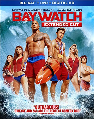 Baywatch Johnson Efron Blu Ray DVD Dc R