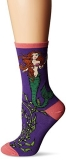Socks Womens Crew Mermaid Purple