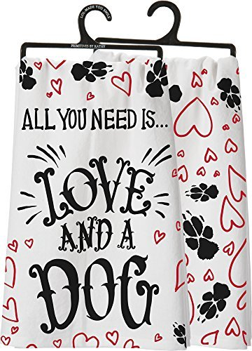 primitives-by-kathy-dish-towel-all-you-need-is-love-and-a-dog