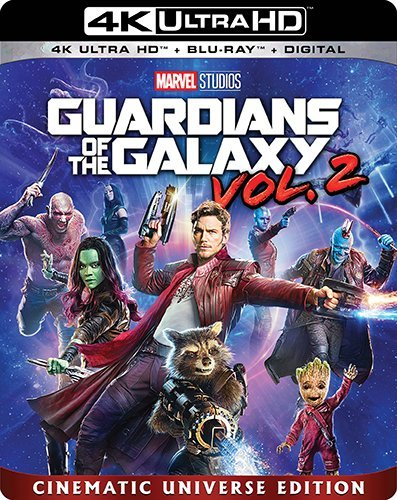 Guardians Of The Galaxy Vol. 2 Pratt Saldana Cooper Diesel Bautista Russell 4kuhd Pg13