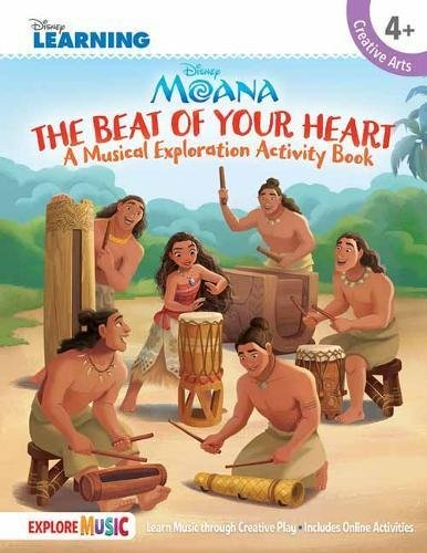 Hal Leonard Corp Moana The Beat Of Your Heart A Musical Exploration Activity Book Disney Learni