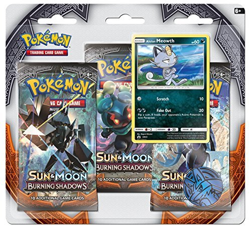 Pokemon Cards Sun & Moon Burning Shadows 3 Booster Blister