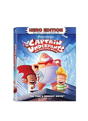 Captain Underpants First Epic Movie Captain Underpants First Epic Movie Blu Ray DVD Dc Pg
