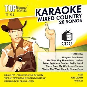Top Tunes Karaoke Mixed Country 20 Songs