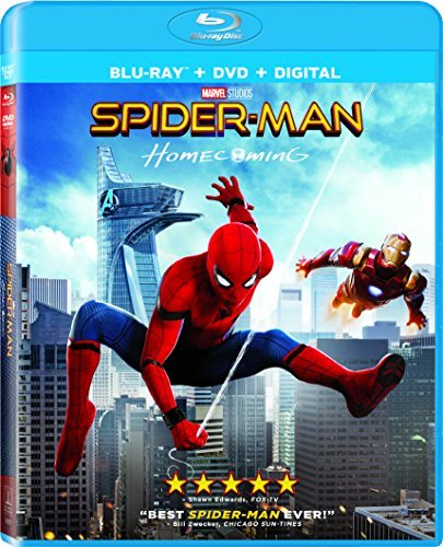 Spider Man Homecoming Holland Keaton Downey Jr. Blu Ray DVD Dc Pg13