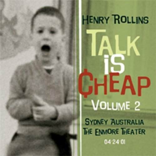 Henry Rollins Vol. 2 Talk Is Cheap 2 CD Set