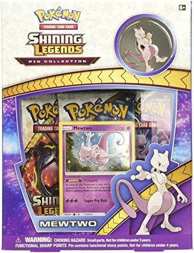 Pokemon Cards Shining Legends Pin Collection Mewtwo