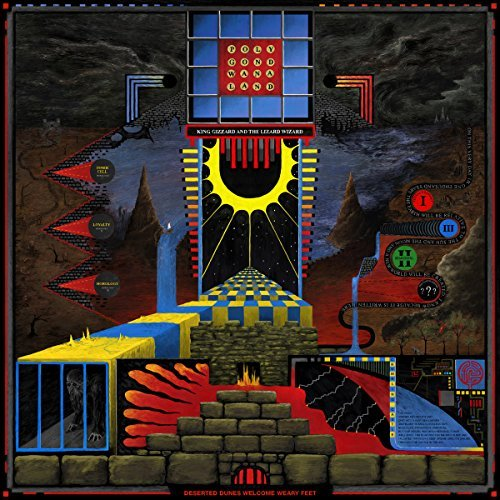 King Gizzard & The Lizard Wizard Polygondwanaland Quad Color Split Wax (2 Shades Of Red Blue And Yellow)