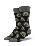 Socks Mens Crew Illuminati Blk