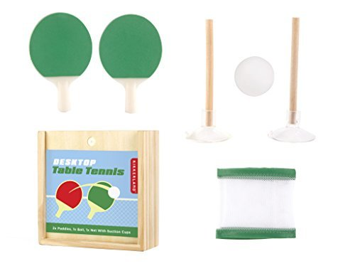 Novelty Kikkerland Desktop Table Tennis