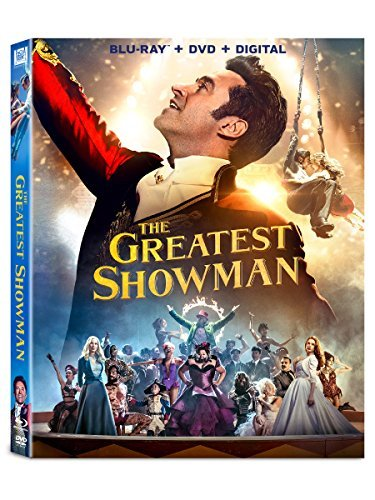 The Greatest Showman Jackman Williams Efron Blu Ray DVD Dc Pg