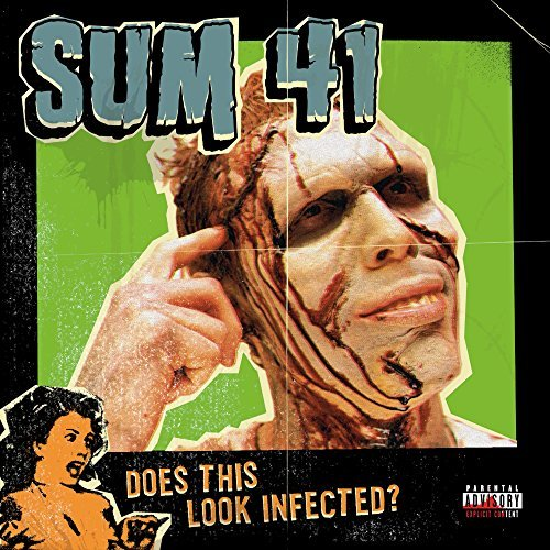 Sum 41 Does This Look Infected (clear With Green Blob Vinyl)
