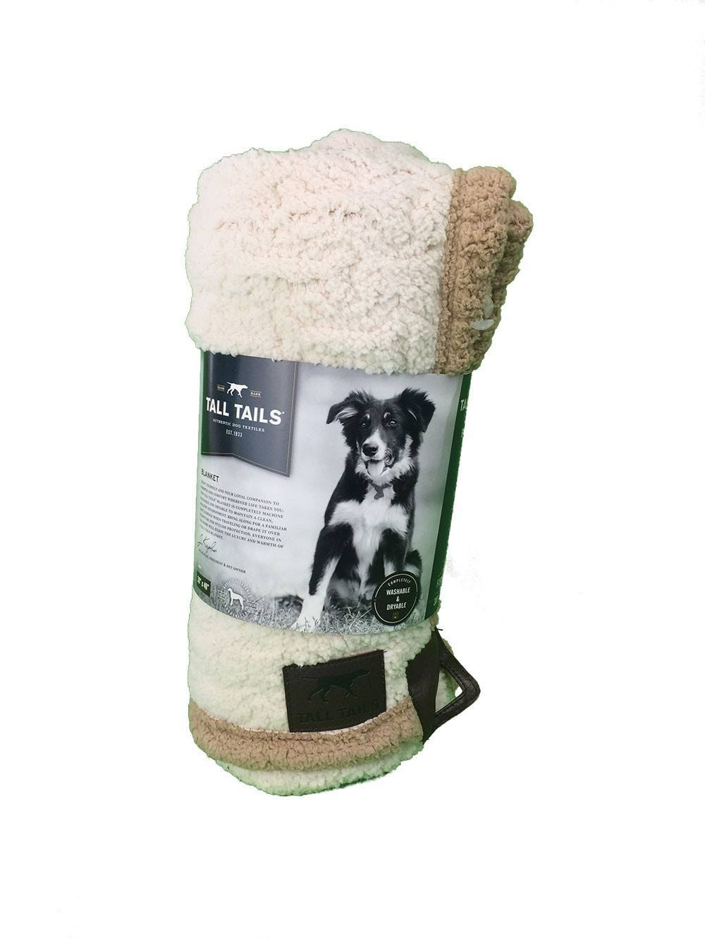 tall-tails-dog-bed-blanket-micro-sherpa-embossed-bone