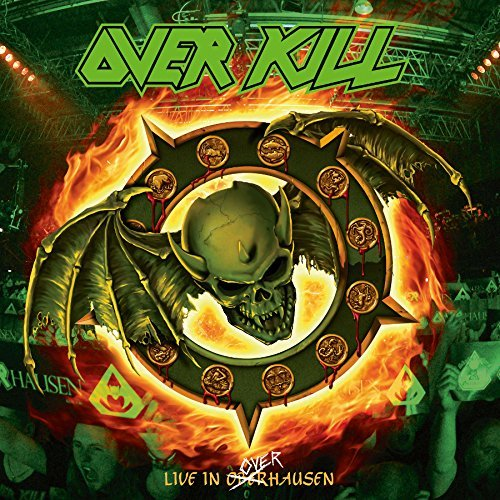Overkill Feel The Fire (live In Overhausen) Double Lp Gatefold Green W Orange And Yellow Splatter