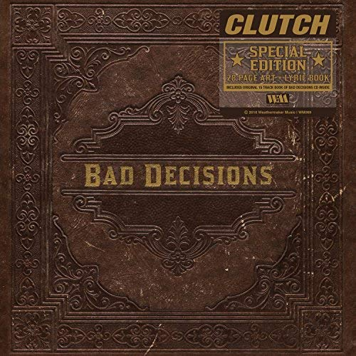 Clutch Book Of Bad Decisions Deluxe 32 Page Hard Cover Book W CD