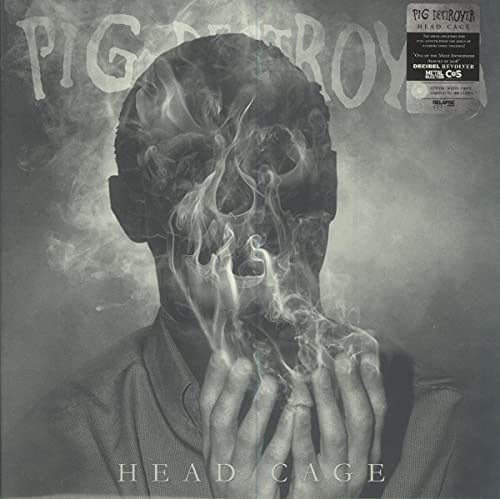 Pig Destroyer Head Cage White Vinyl Ltd To 500 Copies