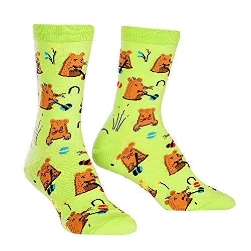 "Sock It To Me Women's Novelty Crew Sock ""whack A Mole"" Bright"