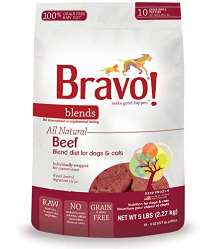 Bravo Blend Beef Burger 5lb Bravo Beef Blend Frozen Dog Food 8 Ounce Patties Pack Of 10
