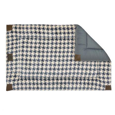 tall-tails-dog-bed-cratemat-fleece-houndstooth